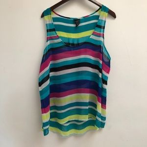 Colorful striped Torrid tank top size 1X